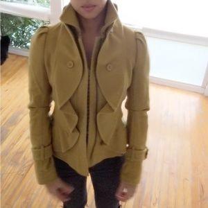 Bebe - Wool Mustard Yellow Jacket